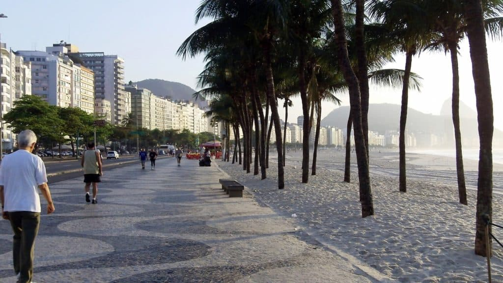 Copacobana Beach Brazil bookonboard tour south america