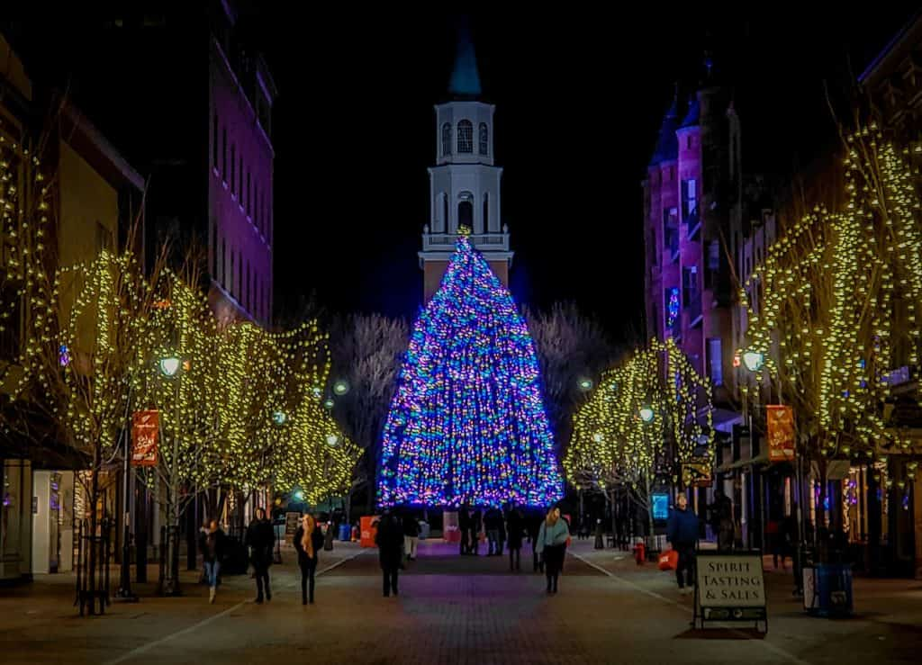christmas in the US Vermont