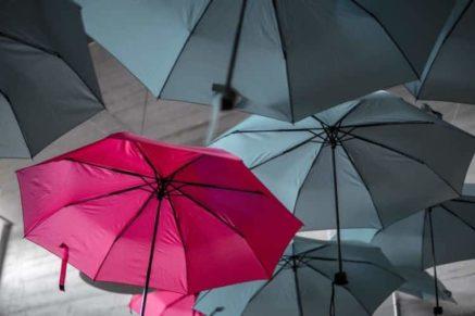 umbrella on a plane