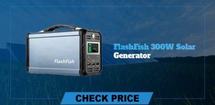 Flashfish 300w solar Generator best  portable power generators 2021