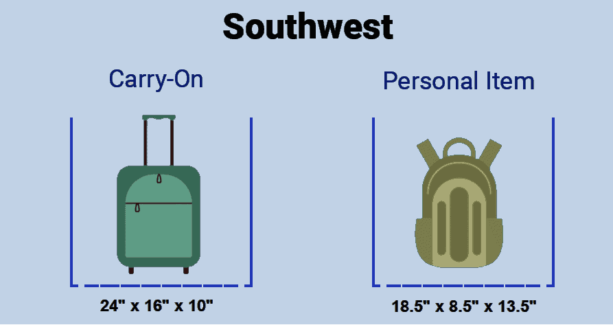 Carry-On and Personal Item Dimensions