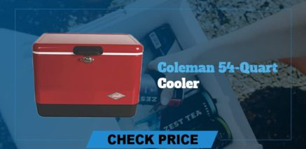 best camping coolers review coleman 54 quart cooler