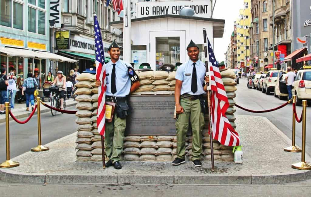 Checkpoint Charlie Berlin  bookonboard travel guide to germany